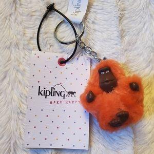 NWT Kipling Mini XS Monkey Keychain - Orange